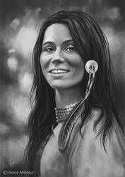 Native American Woman - Commissioned Artwork by Thubakabra