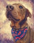Doggie with Bandana - Custom Dog Portrait by Thubakabra