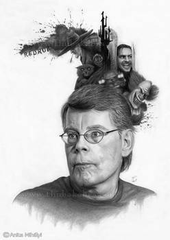Stephen King Pencil Drawing Art