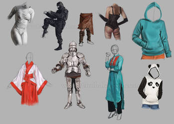 Clothes/armors/colors Practice by Thubakabra