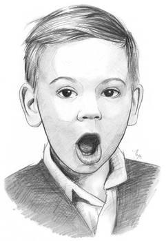 Surprised Kid - Pencil Sketch