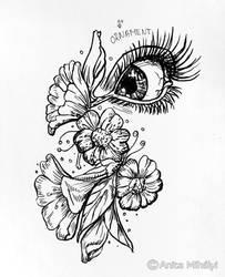 Ornament Inktober Drawing - Floral Pen Art