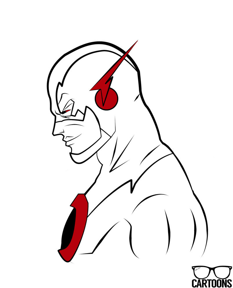 the flash coloring pages - reverse flash by rgcartoons on deviantart