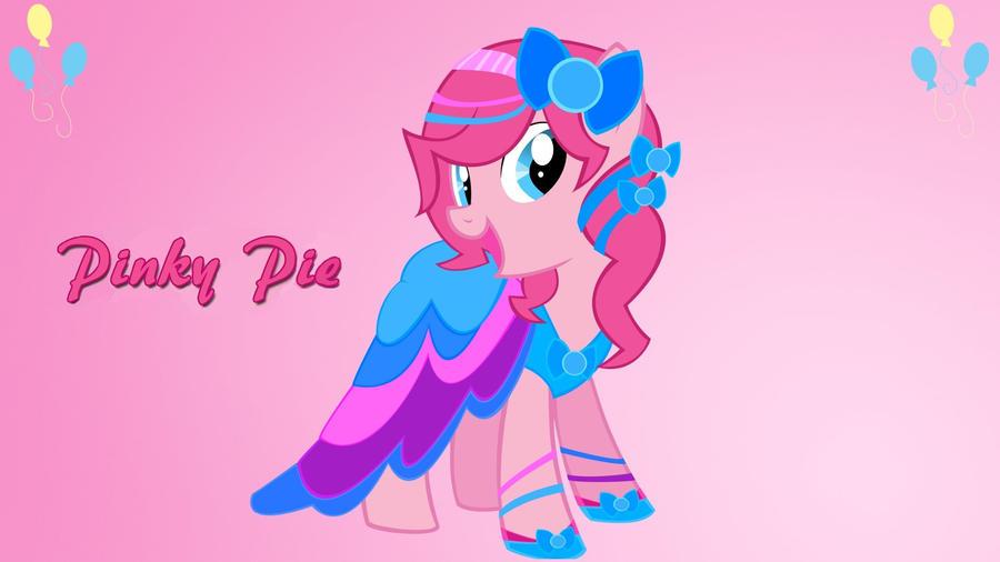 Wallpaper Pinkie Pie in wonderful dress by Barrfind