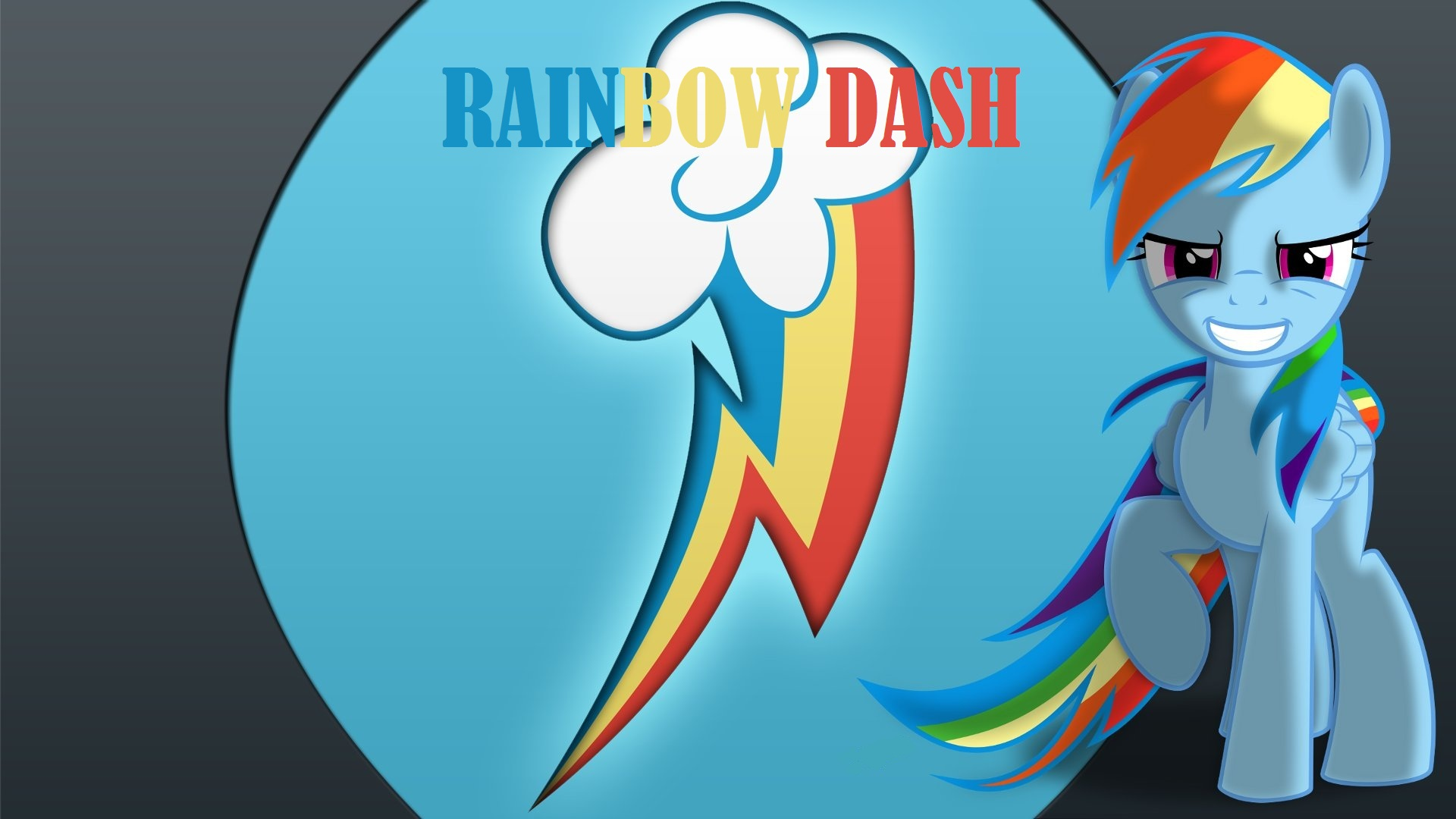 Wallpaper Awesome Rainbow Dash by Barrfind