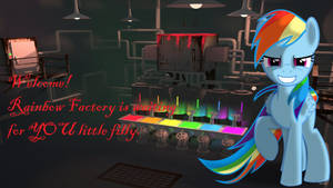 Wallpaper Rainbow Factory is Waiting fo you