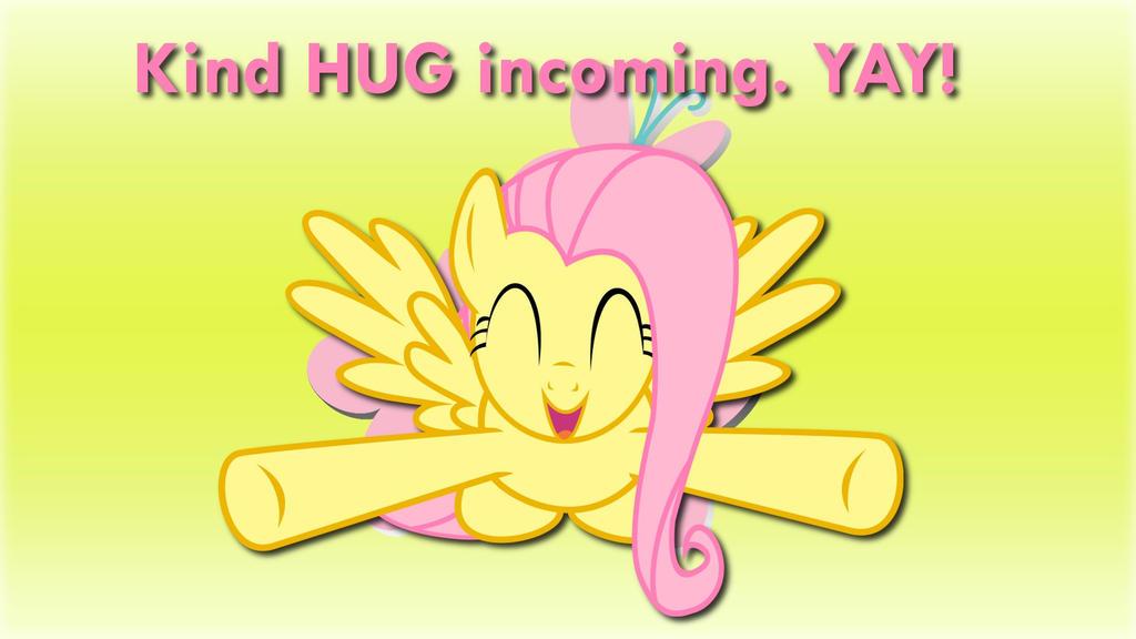 Wallpaper Fluttershy kind HUG incoming! by Barrfind