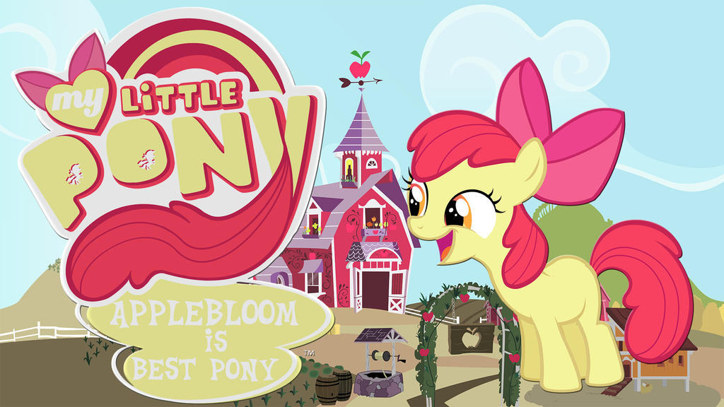 wallpaper Appleboom is best pony by Barrfind