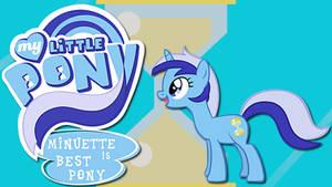 Wallpaper Minuette is best pony