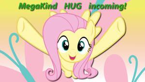 Wallpaper Fluttershy MegaKind HUG incoming