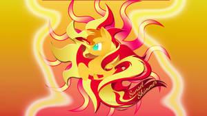 Wallpaper Logo Sunset  Shimmer
