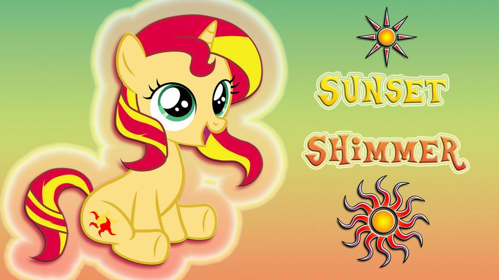 Wallpaper Filly Sunset Shimmer iMac 2560 x 1440