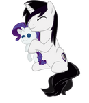 Vector Barrfind hugging plushie