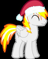 Vector Christmas Hat Silver Shield