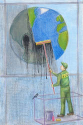 Let's make our planet clean by LadyFever
