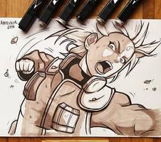 Haruno Sakura fighting - Naruto Shippunen by ArTestor