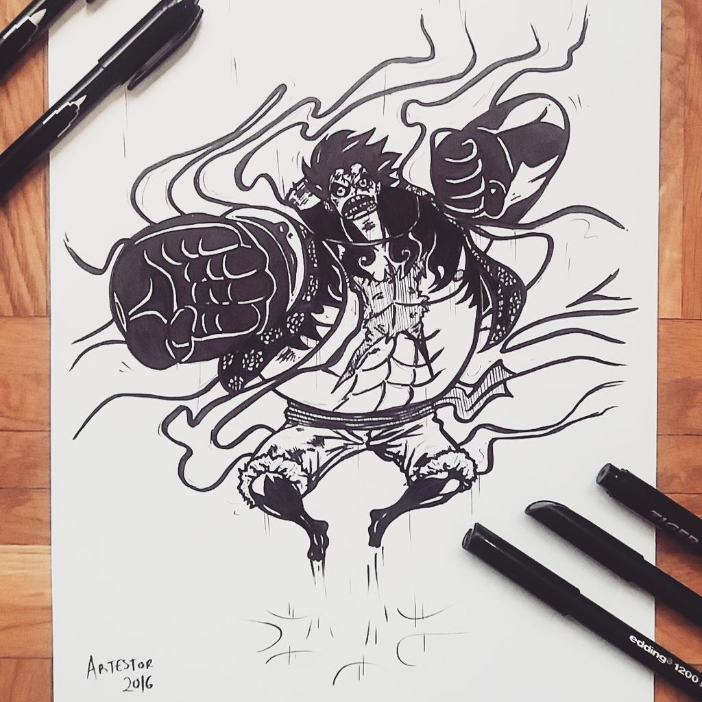 Luffy Gear 4 Tattoo: /v/onepiece