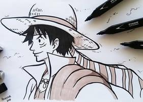 Luffy D Monkey - Onepiece by ArTestor