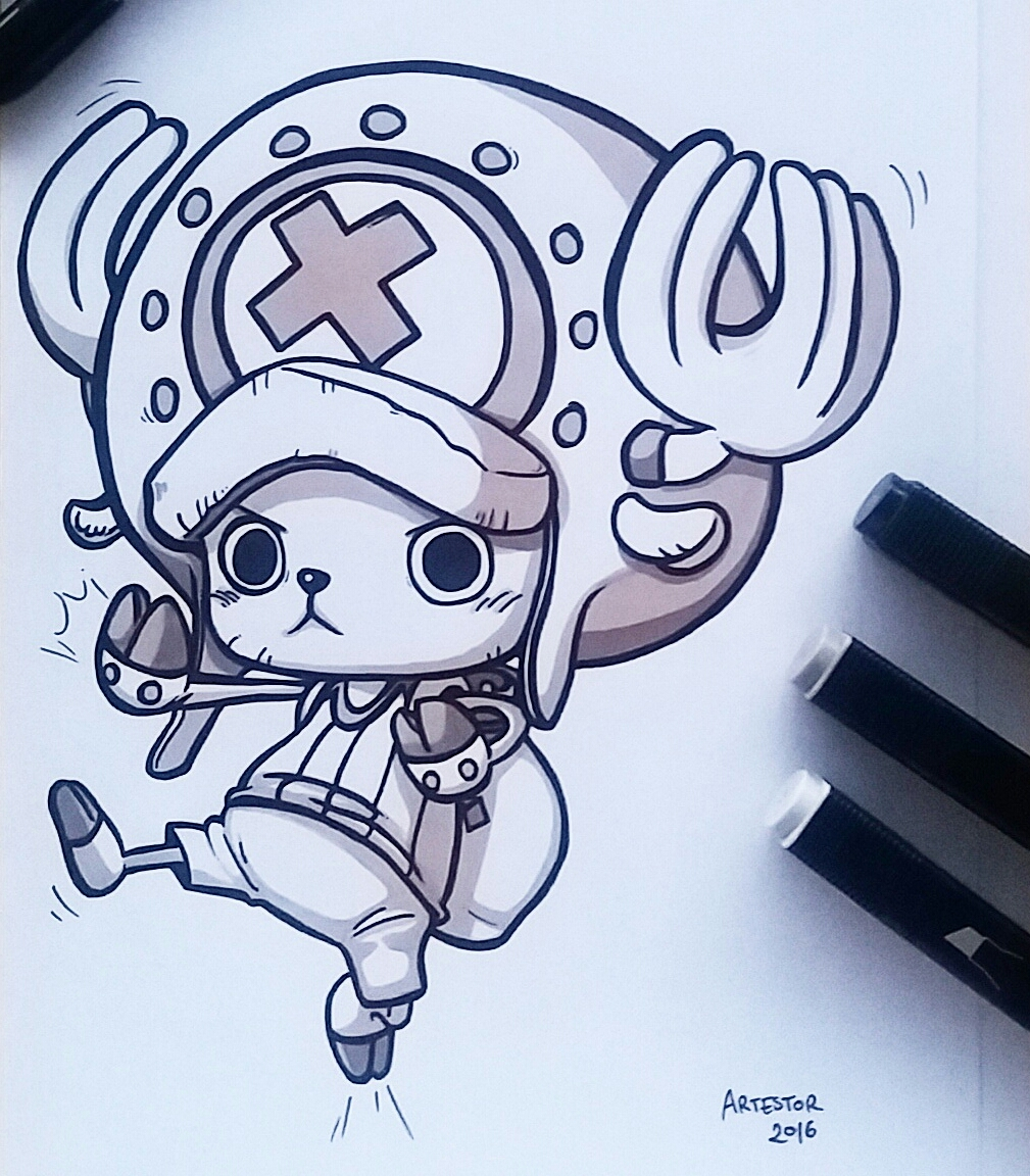 Chopper one piece by artestor on deviantart for Dibujos one piece