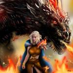 Daenerys Targaryen y su dragon Drogo
