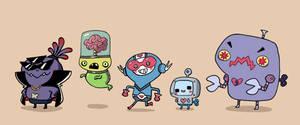 SatelliteSoda character lineup by Izaart