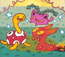Pokemon Friends by Izaart