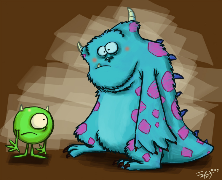 Mike And Sulley By Izaart On DeviantArt