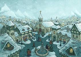 wintertown by hillfreak