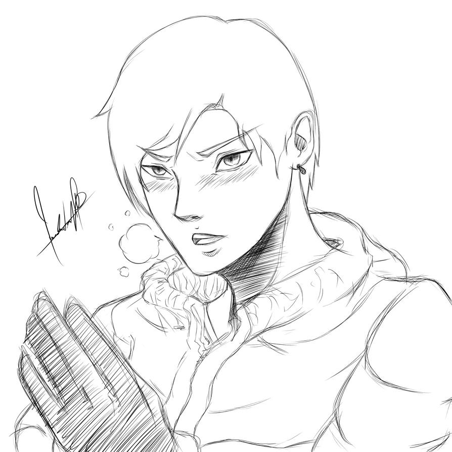 Sketch man manga style by Mauri-kun