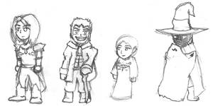 FFI Misc. Character Chibis by JonCausith
