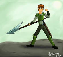 Warrior of the Emerald Sun by JonCausith