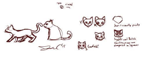 11th June 2015 - Jon Draws Cats by JonCausith