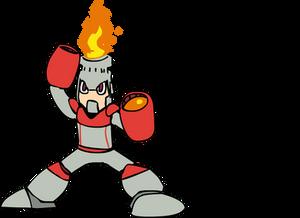 Draw Mega Man Day 2015 - Fire Man