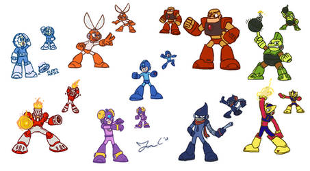 MM1 Robot Masters [MM11 STYLE]