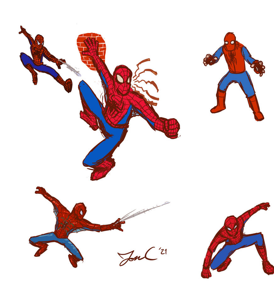 Jon sketches Spider-Man: Suits 'n Poses