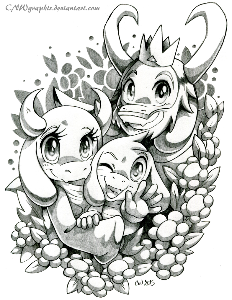 Coloring pages undertale - Happy Undertale Dreemurr Family By Cnwgraphis On Deviantart Happy Family Coloring Pages