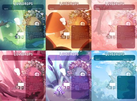 Lovedrop Lake - Registration Sheet Templates