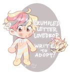 WTA CLOSED - Crumpled Letter Lovedrop