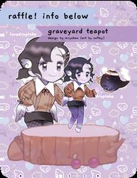 [lovedrops] OPEN RAFFLE - Graveyard Teapot