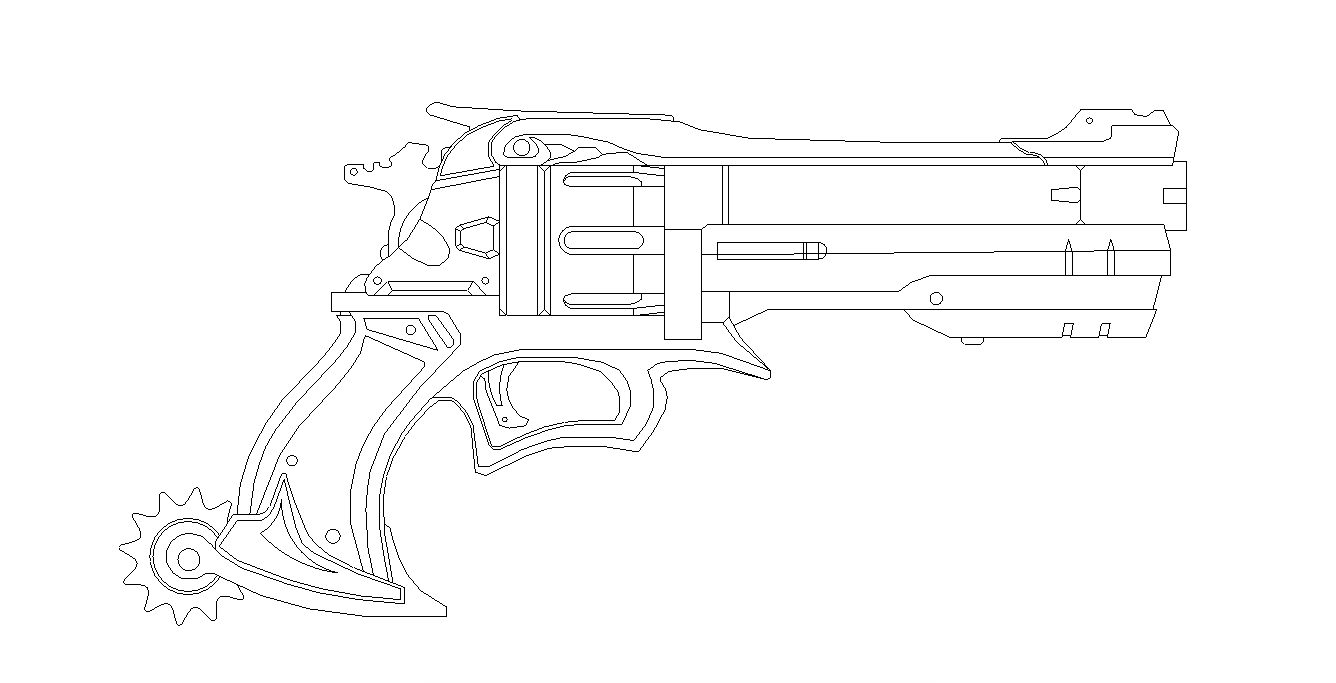 Mccrees gun blueprint for prop by netherpirate on deviantart mccrees gun blueprint for prop by netherpirate malvernweather Choice Image