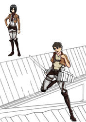 Attack On Titan: WIP Eren 2 by netherpirate