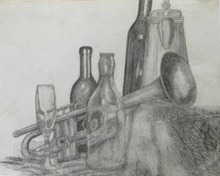 Graphite still life by netherpirate