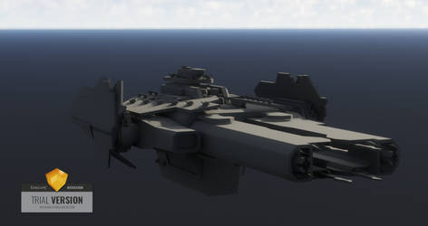 UNSC super heavy frigate: Madrigal (WIP TEASER 1) by netherpirate