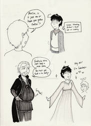 My pencil threw up Merlin nonsense