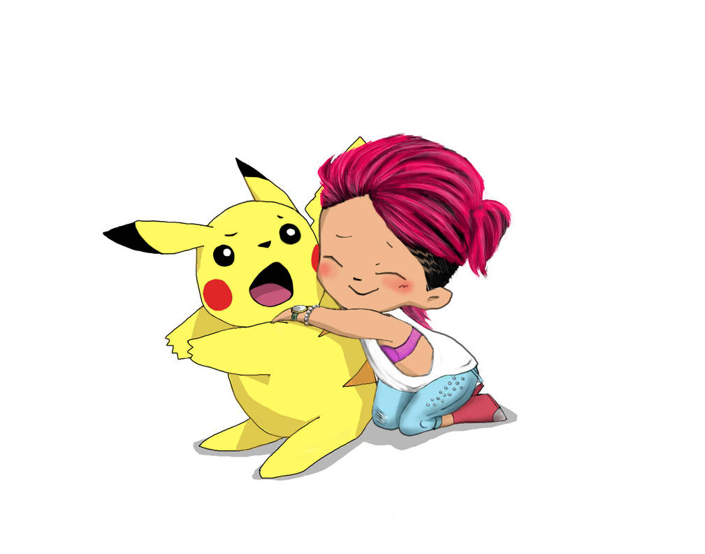 Notorious Pikachu hugger by T1gerius