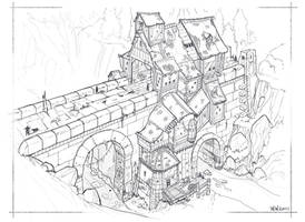 Fantasy bridge sketch (5/18/2011) by wwsketch