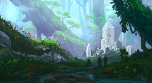 Fantasy Forest Grotto by wwsketch