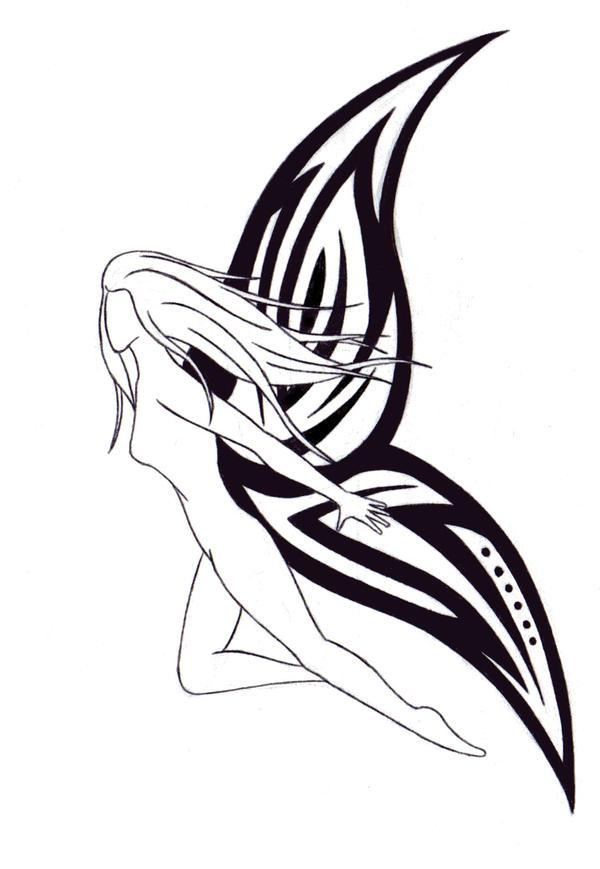 Tribal Fairy Tattoo Designs Simple