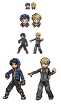 :Update: :Pokemon Sprites: Y(Blue) B(Yellow) by Hikolol35