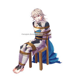 Corrin tied to a chair